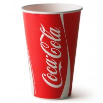 Pahar Carton Coca Cola D90 16oz (50 buc)