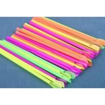 Paie Drepte Colorate cu Lingurita (500 buc)